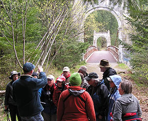 Group Learns About Alexandra Bridge