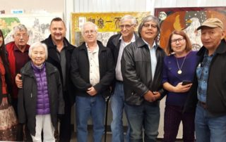 The New Pathways to Gold Society Board of Directors were in Ashcroft on Thursday for their quarterly meeting and we treated to a tour of the artwork being created for the Harmony Project. Artist Marina Papais explained the unique, original artwork being produced to the directors.