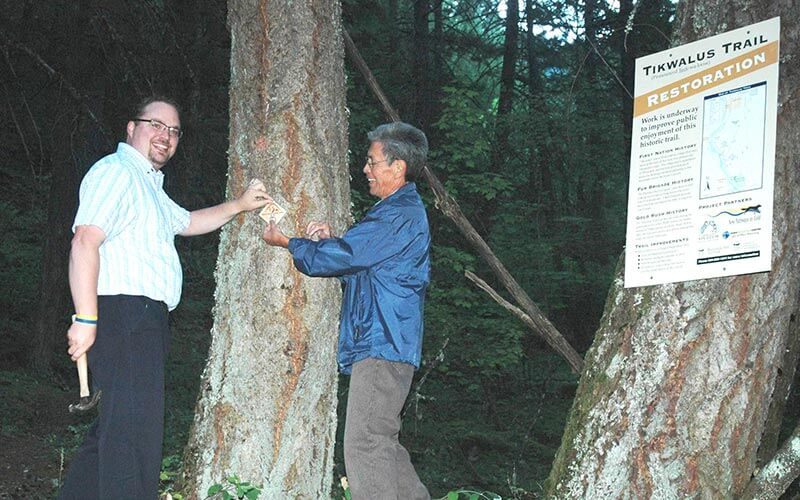 Strahl and Bobb At Tikwalus Trail Marker Event